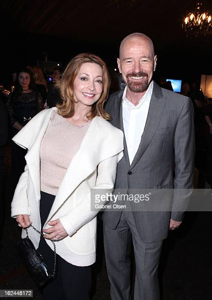 Actors Sharon Lawrence and Bryan Cranston attend the On3 Official Presenter Gift Lounge during the 2013 Film Independent Spirit Awards at Santa...