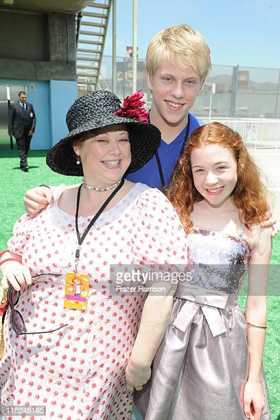 Actors Sharon Sachs Jackson Odell and Jordana Beatty attend the after party for the premiere of Relativity Media's Judy Moody And The NOT Bummer...
