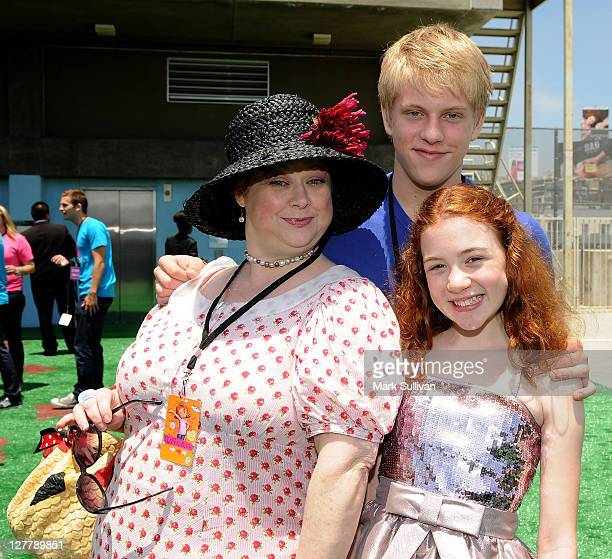 Actors Sharon Sachs Jackson Odell and Jordana Beatty attend the after party following the Los Angeles premiere of Judy Moody And The Not Bummer...