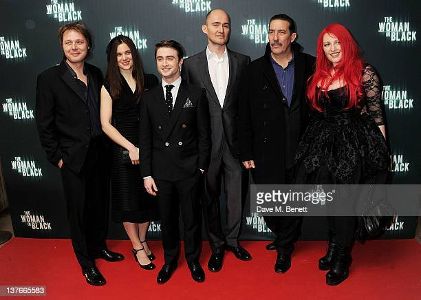 Actors Shaun Dooley Liz White Daniel Radcliffe director James Watkins Ciaran Hinds and screenwriter Jane Goldman attend the World Premiere of 'The...