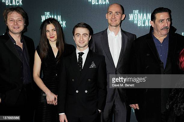 Actors Shaun Dooley Liz White Daniel Radcliffe director James Watkins and Ciaran Hinds attend the World Premiere of 'The Woman In Black' at the Royal...