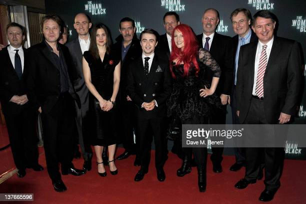 Actors Shaun Dooley Liz White Daniel Radcliffe director James Watkins Ciaran Hinds screenwriter Jane Goldman and producer Simon Oakes attend the...