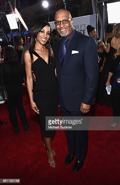 Actors Shaun Robinson and James Pickens Jr attend The 41st Annual People's Choice Awards at Nokia Theatre LA Live on January 7 2015 in Los Angeles...