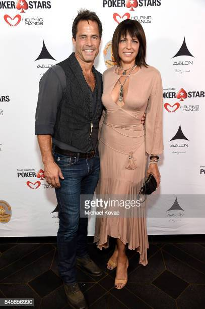 Actors Shawn Christian and Arianne Zucker at the Heroes for Heroes Los Angeles Police Memorial Foundation Celebrity Poker Tournament at Avalon on...