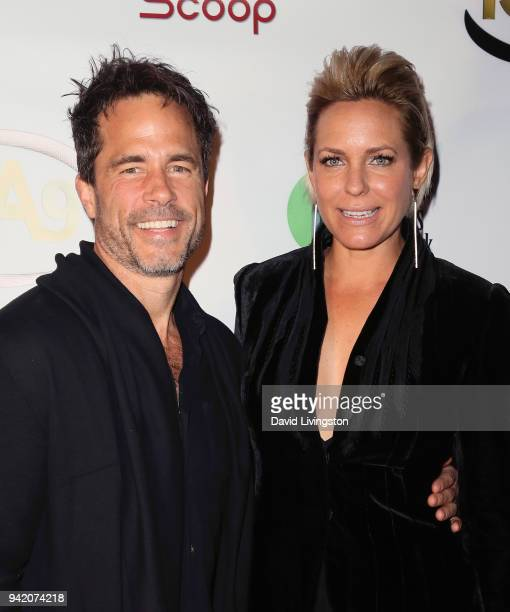 Actors Shawn Christian and Arianne Zucker attend the 9th Annual Indie Series Awards at The Colony Theatre on April 4, 2018 in Burbank, California.