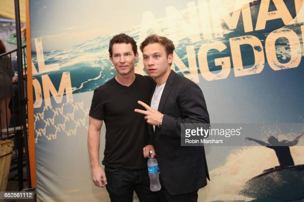 Actors Shawn Hatosy and Finn Cole pose for a photo during TNT Animal Kingdom at SXSW 2017 on March 11 2017 in Austin Texas
