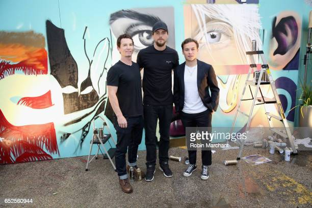 Actors Shawn Hatosy Ben Robson and Finn Cole pose for a photo during TNT Animal Kingdom at SXSW 2017 on March 11 2017 in Austin Texas
