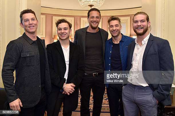 Actors Shawn Hatosy Finn Cole Ben Robson Scott Speedman and Jake Weary of ' Animal Kingdom' attend the 2016 TCA Turner Winter Press Tour Presentation...