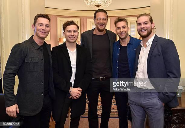 Actors Shawn Hatosy Finn Cole Ben Robson Scott Speedman and Jake Weary of ' Animal Kingdom' attend the 2016 TCA Turner Winter Press Tour Presentation...