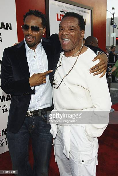 """Actors Shawn Wayans and John Witherspoon attend Sony Pictures premiere of """"Little Man"""" at the Mann National Theater on July 6, 2006 in Westwood,..."""