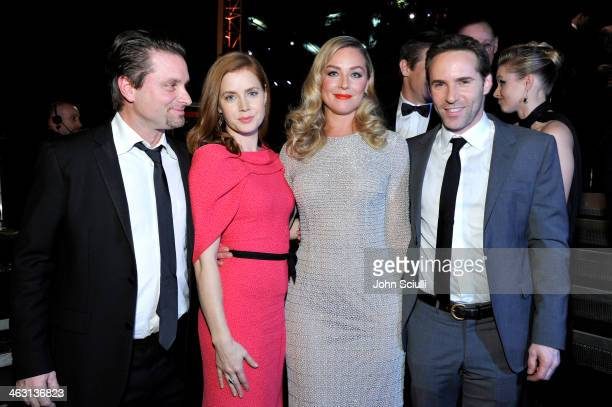 Actors Shea Whigham Amy Adams Elisabeth Rohm and Alessandro Nivola attend the 19th Annual Critics' Choice Movie Awards at Barker Hangar on January 16...