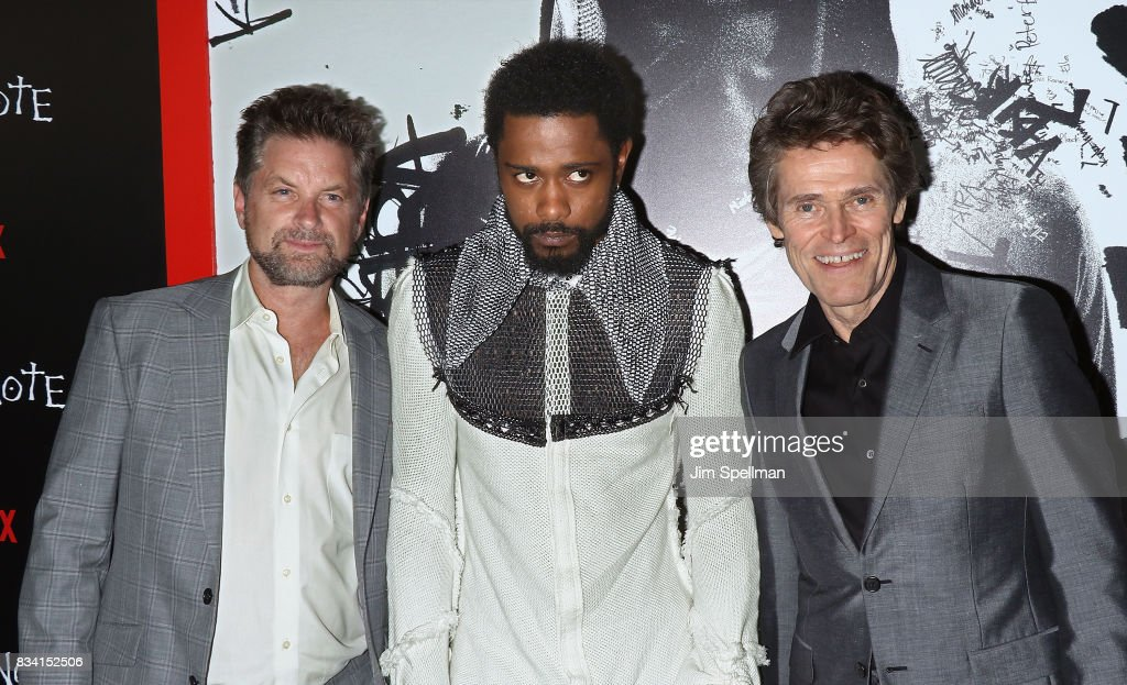 Actors Shea Whigham, LaKeith Stanfield and Willem Dafoe attend the 'Death Note' New York premiere at AMC Loews Lincoln Square 13 theater on August 17, 2017 in New York City.