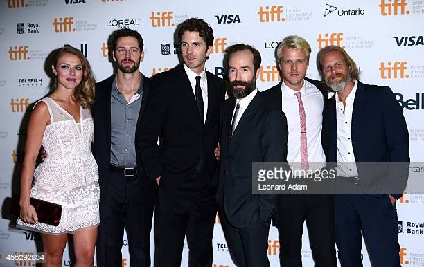 Actors Sheila Campbell Brett Donnahue CoWriters/Directors Matthew Kennedy and Adam Brooks actors Conor Sweeney and Brent Neale attend The Editor...
