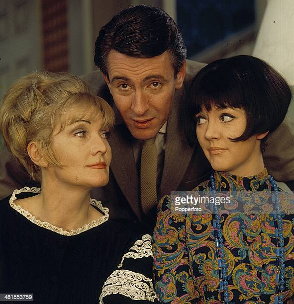1968 Actors Sheila Hancock Tony Britton and Amanda Barrie pictured in a scene from the television drama 'Horizontal Hold' in 1968