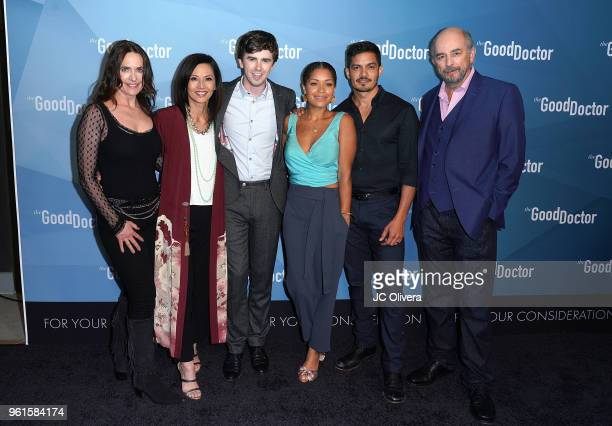 Actors Sheila Kelley Tamlyn Tomita Freddie Highmore Antonia Thomas Nicholas Gonzalez and Richard Schiff attend For Your Consideration Event for ABC's...