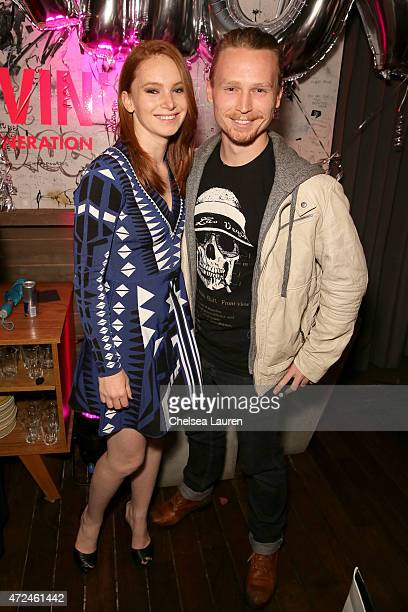 Actors Shelby Steel and Coy Jandreau attend the NYLON Young Hollywood Party presented by BCBGeneration at HYDE Sunset Kitchen Cocktails on May 7 2015...