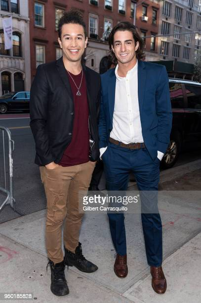 Actors Sheldon White and Andrew Kai arriving to the screening of 'All About Nina' during the 2018 Tribeca Film Festival at SVA Theatre on April 22...