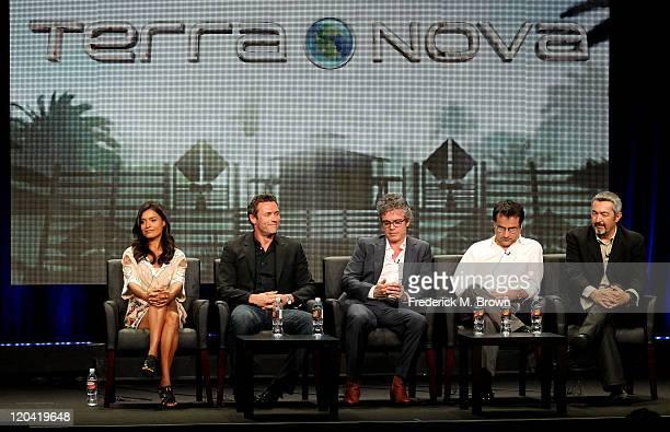 Actors Shelley Conn Jason O'Mara Executive Producer/Writer Brannon Braga Executive Producer Rene Echevarria and Executive Producer/Director Jon...