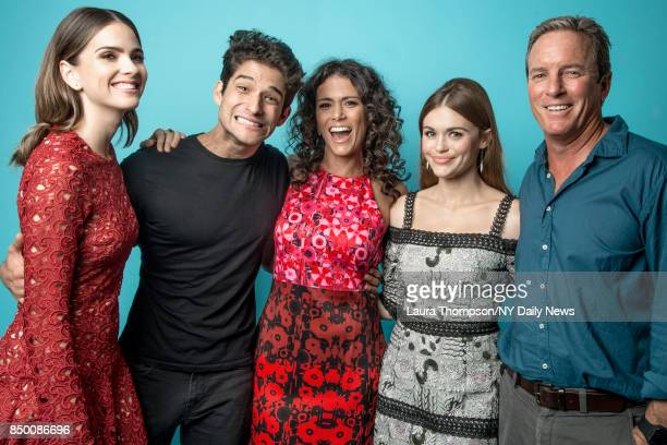 Actors Shelley Hennig Tyler Posey Melissa Ponzio Holland Roden and Linden Ashby of Teen Wolf are photographed for NY Daily News on October 8 2016 at...