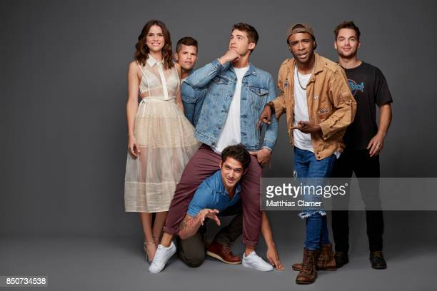 Actors Shelly Hennig Charlie Carver Cody Christian Tyler Posey Khylin Rhambo and Dylan Sprayberry from Teen Wolf are photographed for Entertainment...