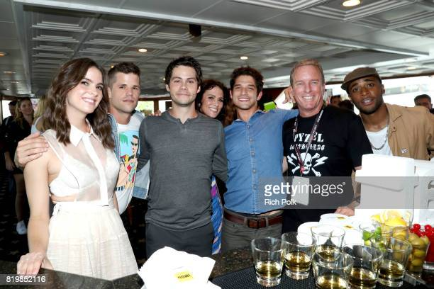 Actors Shelly Hennig Charlie Carver Dylan O'Brien Melissa Ponzio Tyler Posey Linden Ashby and Khylin Rhambo at the #IMDboat At San Diego ComicCon...