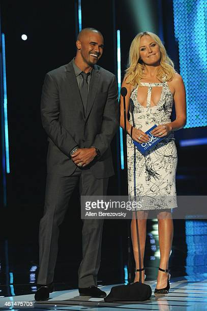 Actors Shemar Moore and Malin Akerman speak onstage at The 40th Annual People's Choice Awards show at Nokia Theatre LA Live on January 8 2014 in Los...