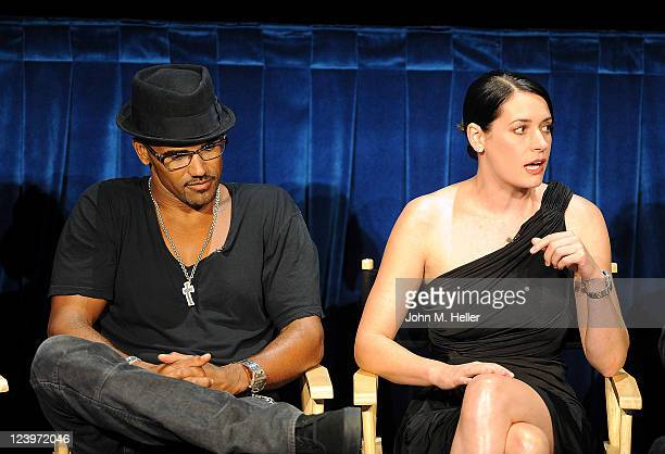 Actors Shemar Moore and Paget Brewster attend the PaleyFest Fall TV Preview Party of the CBS show Criminal Minds at the Paley Center For Media on...