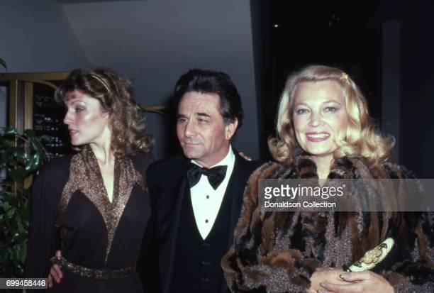 Actors Shera Danese Peter Falk and Gena Rowlands attends an event in November 1981 in Los Angeles California