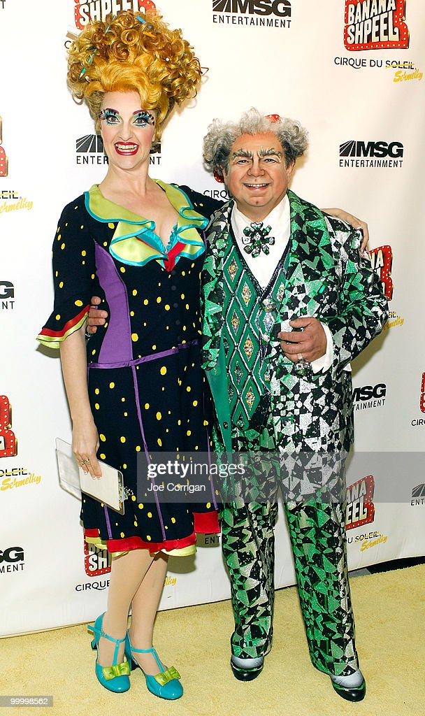 Actors Shereen Hickman and Danny Rutigliano attend the opening night of Cirque du Soleil's 'Banana Shpeel' at the Beacon Theatre on May 19, 2010 in New York City.