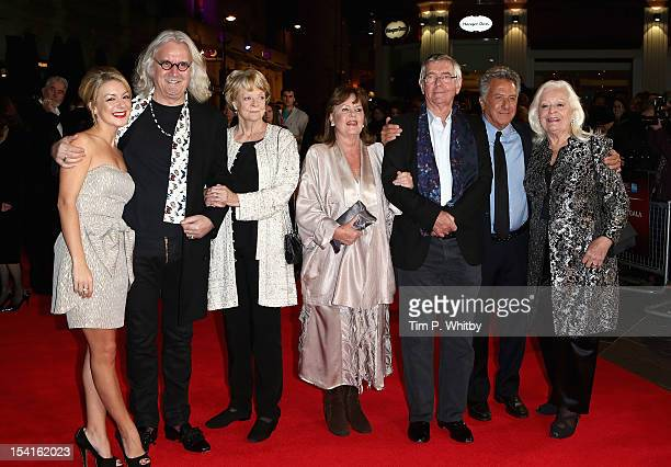Actors Sheridan Smith Billy Connolly Maggie Smith Pauline Collins Tom Courtenay director Dustin Hoffman and Dame Gwyneth Jones attend the Quartet...