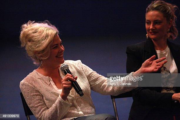 Actors Sherilyn Fenn and Madchen Amick attend a QA during the sixth annual Twin Peaks UK Festival at Genesis Cinema on October 4 2015 in London...