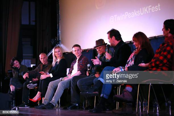 Actors Sherilyn Fenn James Marshall Amy Shiels Jake Wardle Michael Horse Sean Bolger Makeup artist Debbie Zoller and Executive Producer Sabrina S...