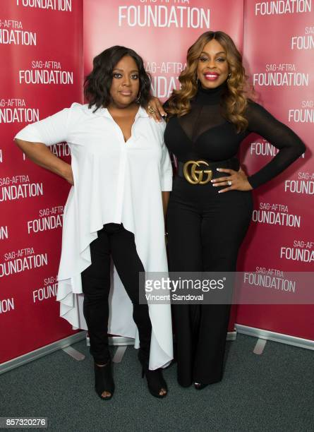 Actors Sherri Shepherd and Niecy Nash attend SAGAFTRA Foundation Conversations with Claws at SAGAFTRA Foundation Screening Room on October 3 2017 in...