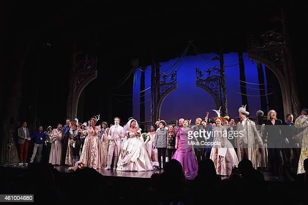 Actors Sherri Shepherd NeNe Leakes Joe Carroll Keke Palmer and the cast of Rodgers Hammerstein's Cinderella take a curtain call during the final...