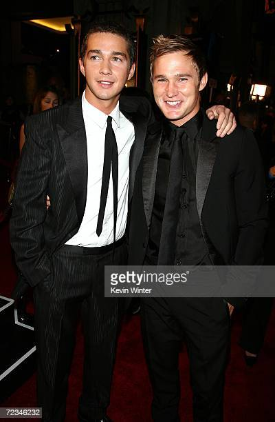 Actors Shia LaBeouf and Brian Geraghty arrive at the AFI FEST presented by Audi opening night gala of Bobby at the Grauman's Chinese Theatre on...