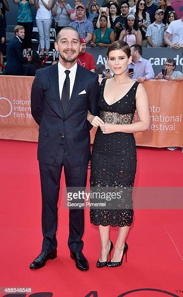 Actors Shia LaBeouf and Kate Mara attend the 'Man Down' premiere during the 2015 Toronto International Film Festival at Roy Thomson Hall on September...