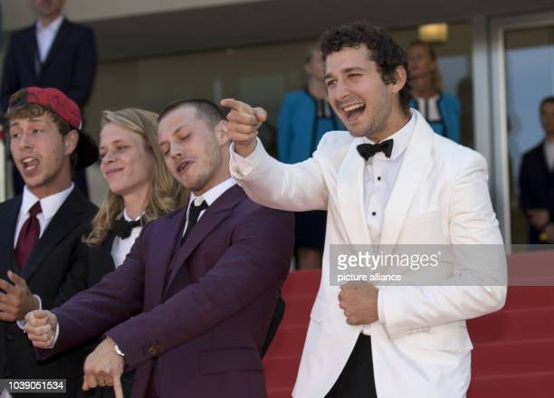 Actors Shia LaBeouf and Mccaul Lombardi attend the premiere of 'American Honey' during the 69th Annual Cannes Film Festival at Palais des Festivals...