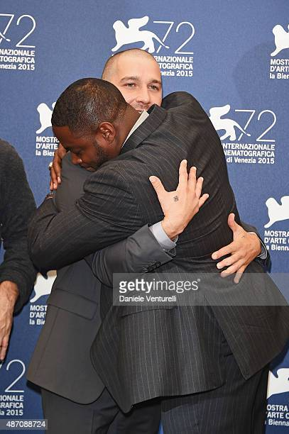 Actors Shia LaBeouf and Nick Jones Jr attend a photocall for 'Man Down' during the 72nd Venice Film Festival at on September 6 2015 in Venice Italy