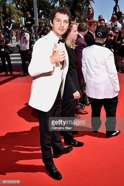 Actors Shia LaBeouf attends the 'American Honey' premiere during the 69th annual Cannes Film Festival at the Palais des Festivals on May 15 2016 in...