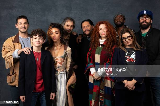 Actors Shia LaBeouf Noah Jupe FKA Twigs Craig Stark Clifton Collins Jr director Alma Har'el Byron Bowers Laura San Giacomo and Martin Starr from...