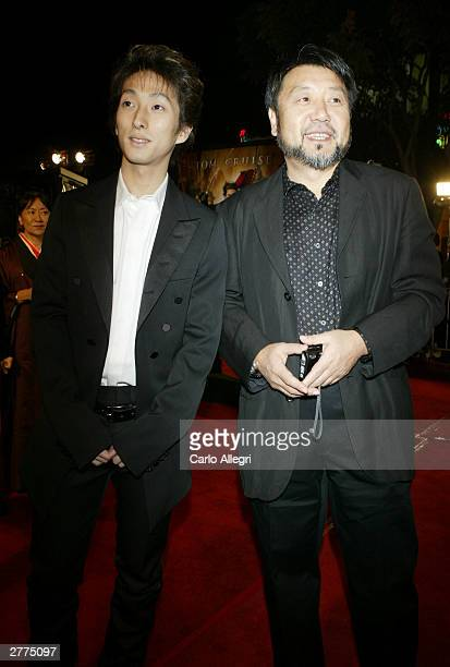 "Actors Shichinosuke Nakamura and Masato Harada attend the WB's premiere of ""The Last Samurai"" held on December 1, 2003 at the Mann's Village Theatre,..."