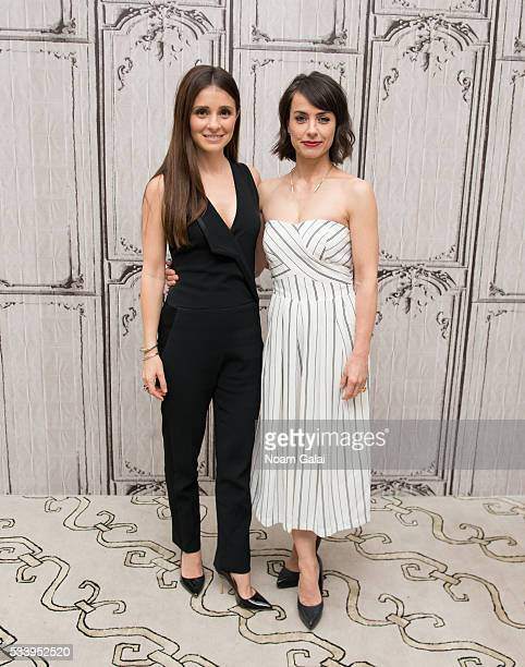 """Actors Shiri Appleby and Constance Zimmer visit AOL Build to discuss """"UnREAL"""" at AOL Studios In New York on May 24, 2016 in New York City."""