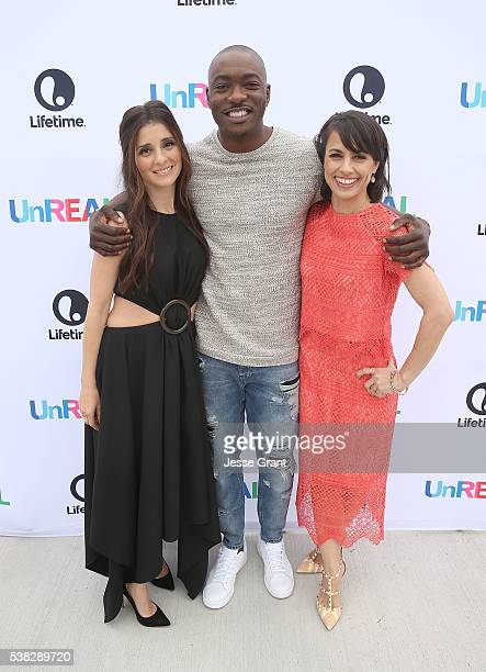 Actors Shiri Appleby BJ Britt and Constance Zimmer attend the Lifetime UnREAL Group Date and Champagne Brunch Aboard Dandeana Yacht With Cast and...