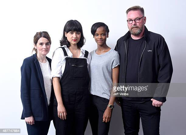 Actors Shirley Henderson Isabella Laughland Letitia Wright and director Michael CatonJones from 'Urban Hymn' pose for a portrait during the 2015...
