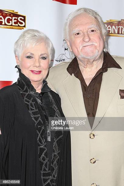 Actors Shirley Jones and Marty Ingels arrive at the 3rd annual Jerry Herman Awards at the Pantages Theatre on June 1 2014 in Hollywood California