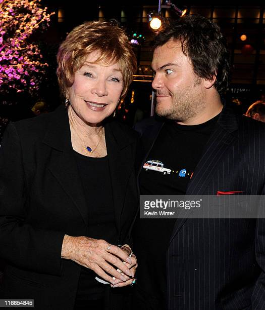Actors Shirley MacLaine and Jack Black pose at the after party for Film Independent's Los Angeles Film Festival opening night premiere of Bernie at...