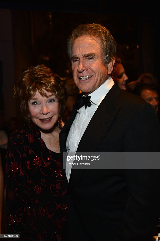 Actors Shirley MacLaine and Warren Beatty attend the after party for the 40th AFI Life Achievement Award honoring Shirley MacLaine held at Sony Pictures Studios on June 7, 2012 in Culver City, California. The AFI Life Achievement Award tribute to Shirley MacLaine will premiere on TV Land on Saturday, June 24 at 9PM