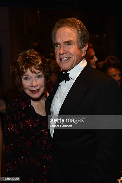 Actors Shirley MacLaine and Warren Beatty attend the after party for the 40th AFI Life Achievement Award honoring Shirley MacLaine held at Sony...