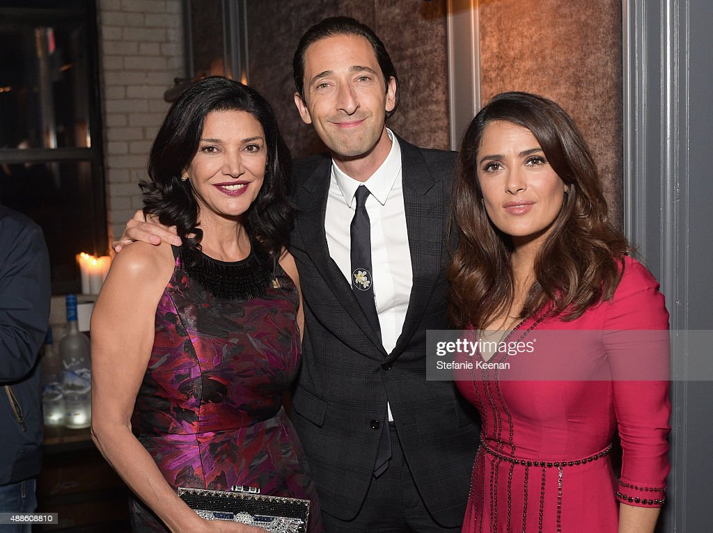 Actors Shohreh Aghdashloo, Adrien Brody and Salma Hayek attend the Septembers of Shiraz TIFF Party Hosted By GREY GOOSE Vodka at Byblos on September 15, 2015 in Toronto, Canada.