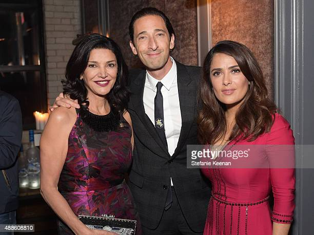 Actors Shohreh Aghdashloo Adrien Brody and Salma Hayek attend the Septembers of Shiraz TIFF Party Hosted By GREY GOOSE Vodka at Byblos on September...